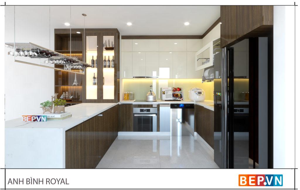Đèn âm trần trong nhà bếp là giải pháp thay thế đèn huỳnh quang trước đây.