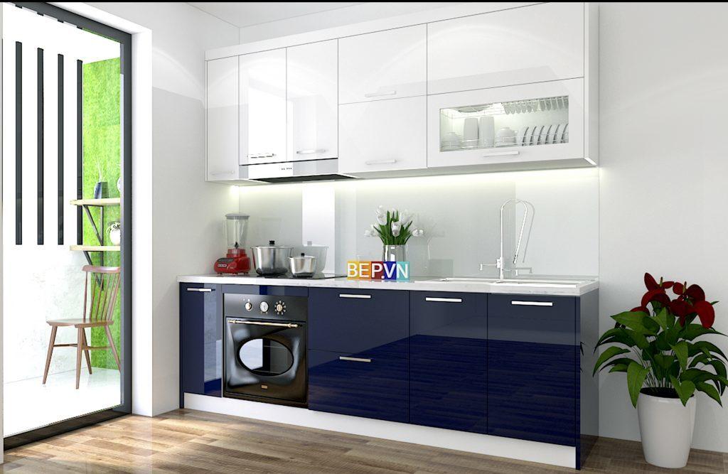 mẫu tủ bếp acrylic chữ I- 50+mẫu tủ bếp đẹp cho nhà nhỏ