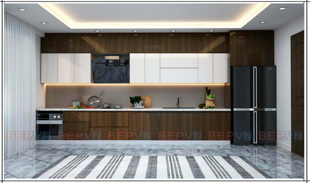 Mẫu tủ bếp đẹp kiểu chữ i