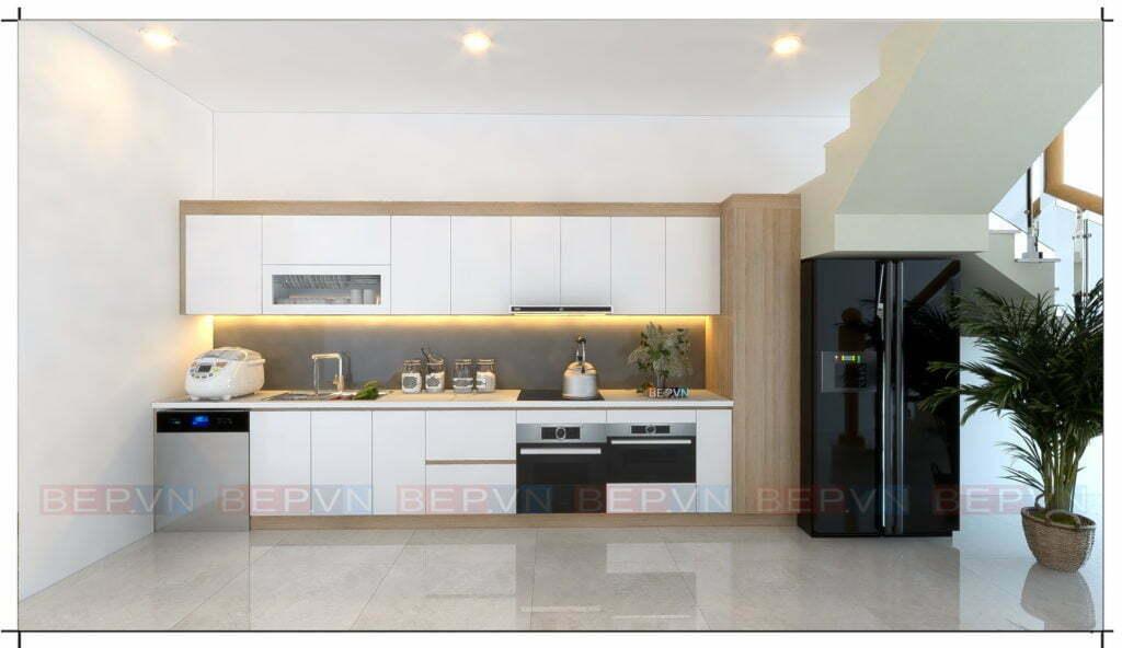 Lựa chọn kiểu tủ bếp chữ i phù hợp cho mọi không gian phòng bếp