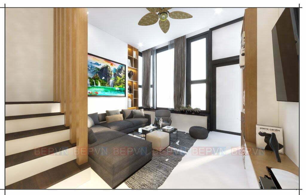 Thiết kế thêm bộ sofa cho phòng khách