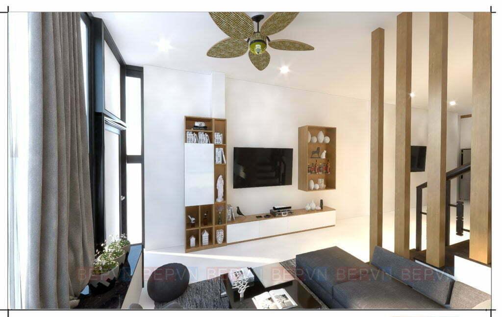 thiết kế nội thất đẹp cho phòng khách nhà anh Nghĩa