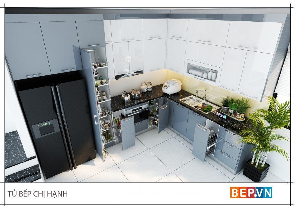 Phòng bếp đẹp hiện đại, tiện nghi đầy đủ công năng phục vụ cho quá trình hoạt động và làm việc