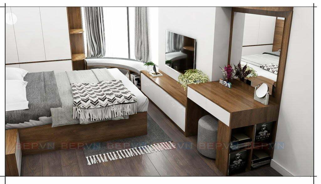 thiết kế phòng ngủ chung cư cho phòng master