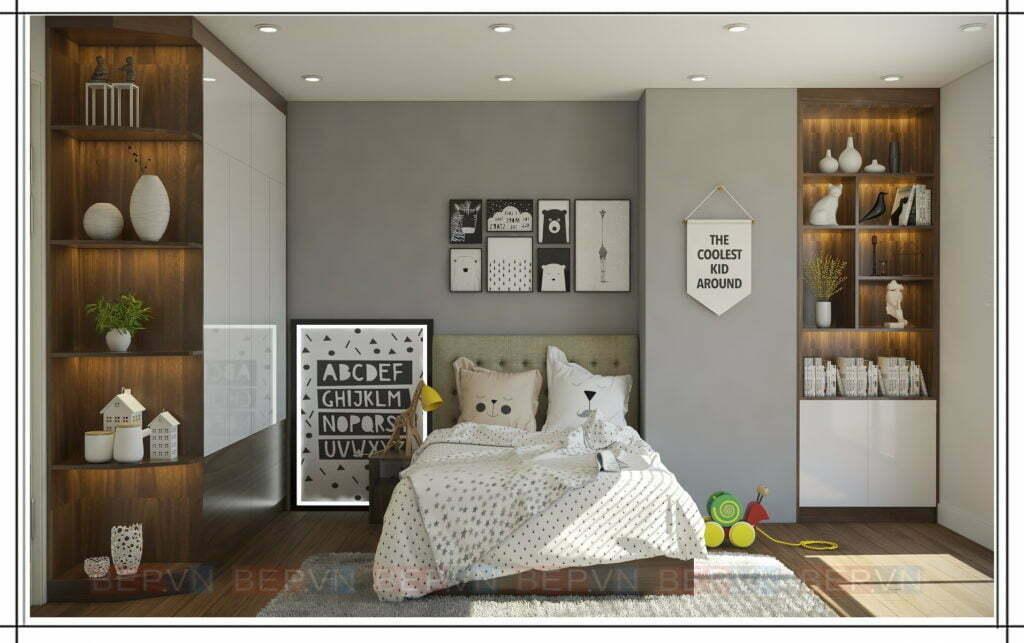 thiết kế phòng ngủ nhẹ nhàng, tinh tế