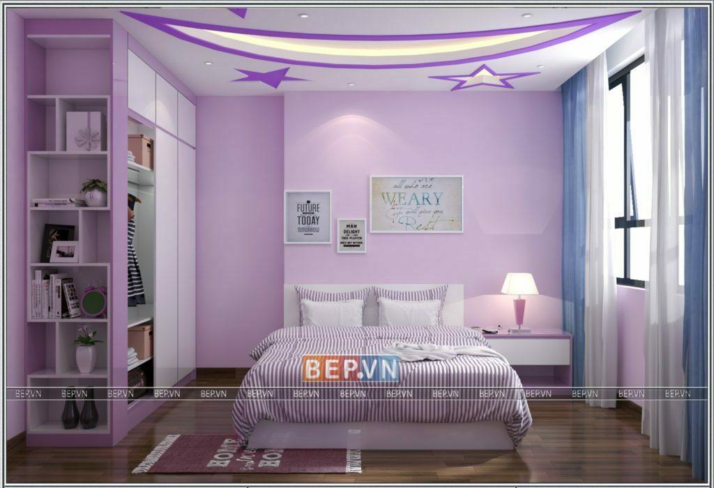 Lựa chọn tông màu hồng pastel nhẹ nhàng cho thiết kế phòng ngủ