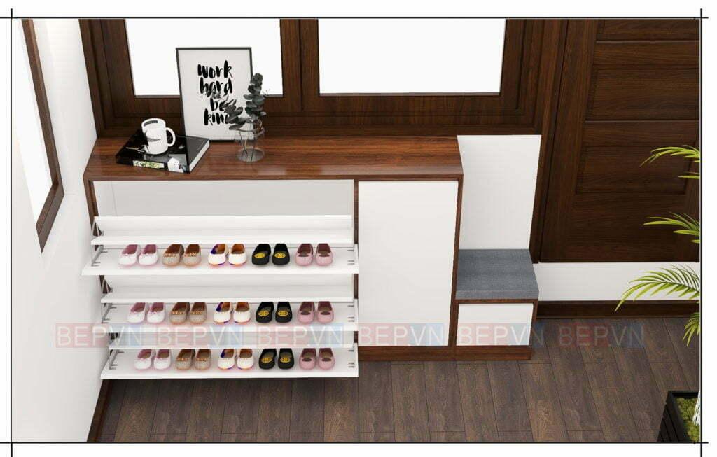 thiết kế tủ giầy đẹp với nhiều tính năng ưu việt