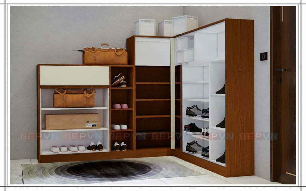 Thiết kế tủ giầy đẹp, độc đáo và ấn tượng