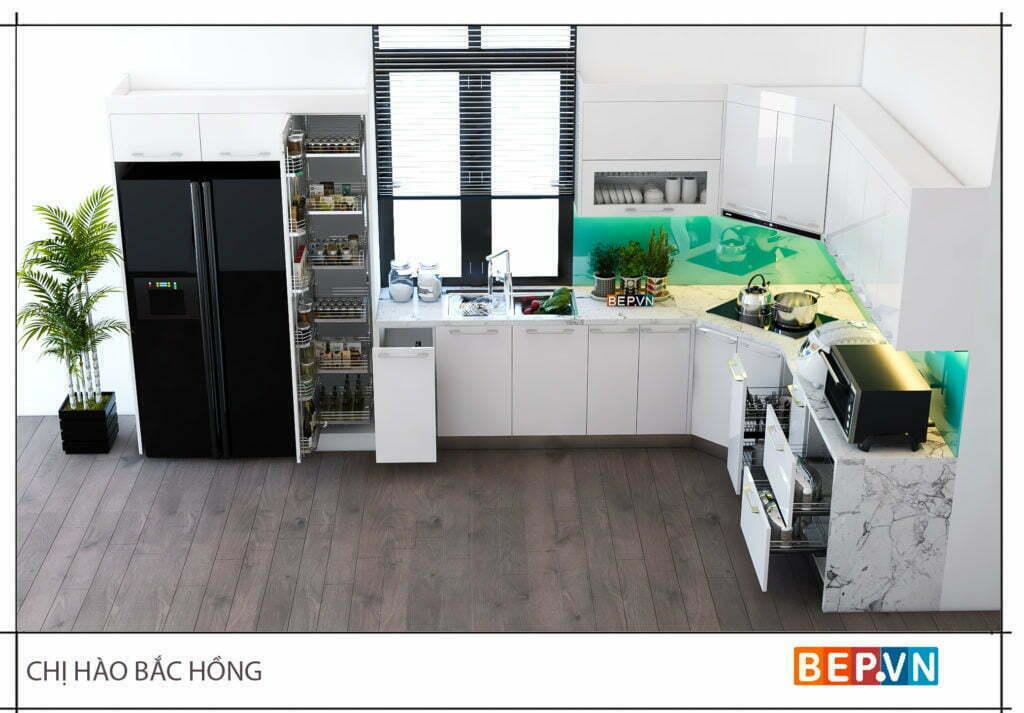 Có nhiều gam màu sắc để bạn lựa chọn cho thiết kế tủ bếp