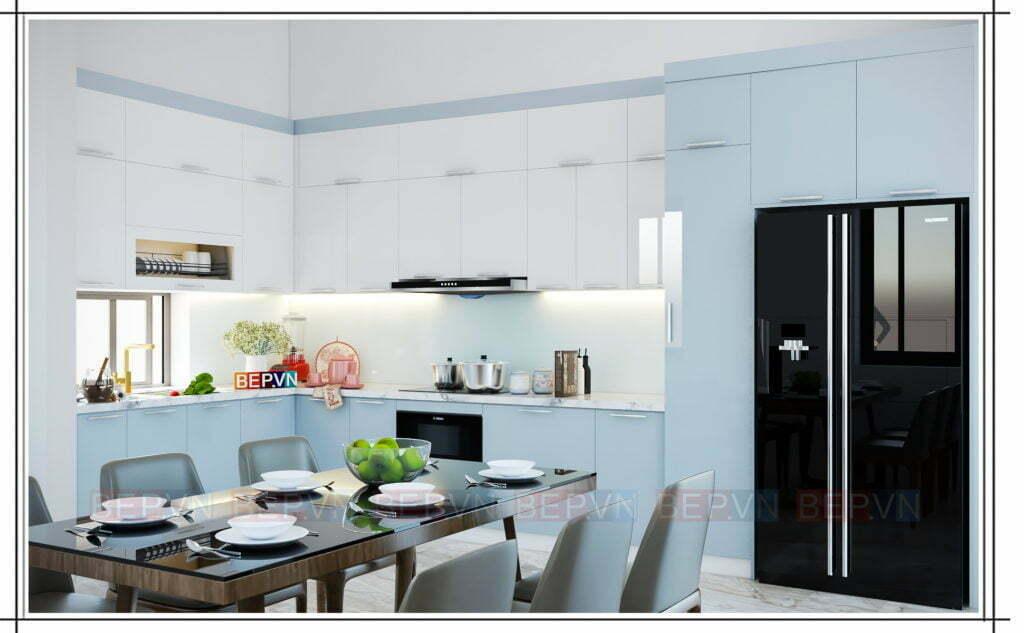 thiết kế nhà bếp đẹp nhẹ nhàng theo phong cách scandinavian