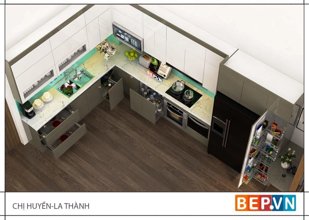 Thiết kế tủ bếp hiện đại, thông minh