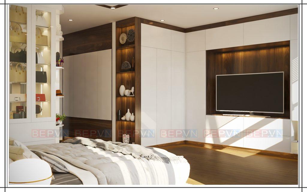 Kệ tivi được thiết kế đơn giản vẫn khiến chủ nhà thích thú