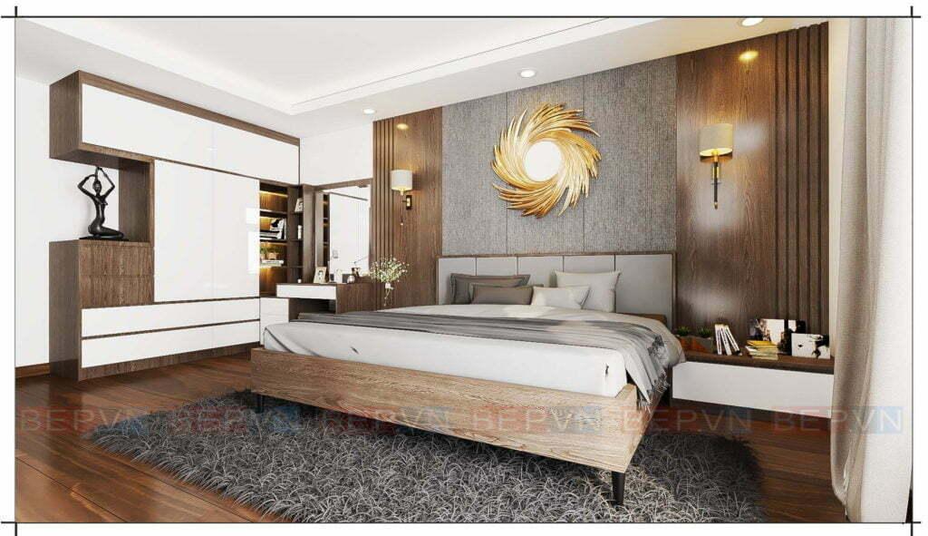 xu hướng thiết kế nội thất phòng ngủ theo phong cách hiện đại