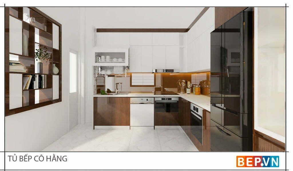 thiết kế tủ bếp gỗ công nghiệp mdf