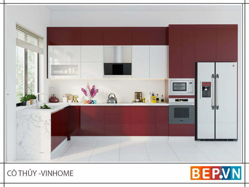 Lựa chọn màu sắc theo phong thủy nhà bếp