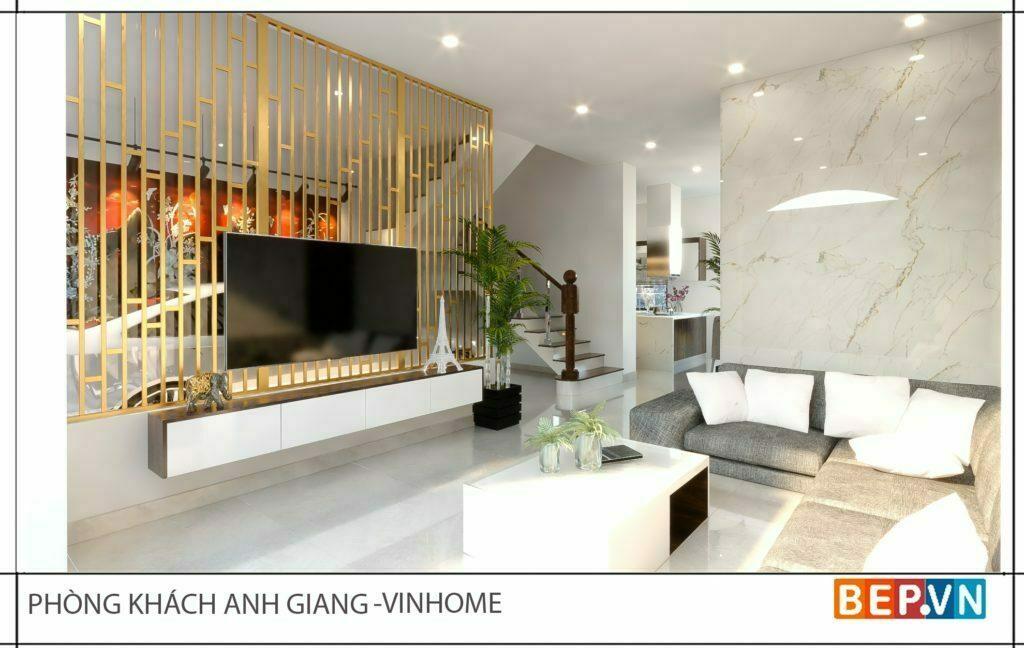 thiết kế nội thất phòng khách sang trọng, hiện đại