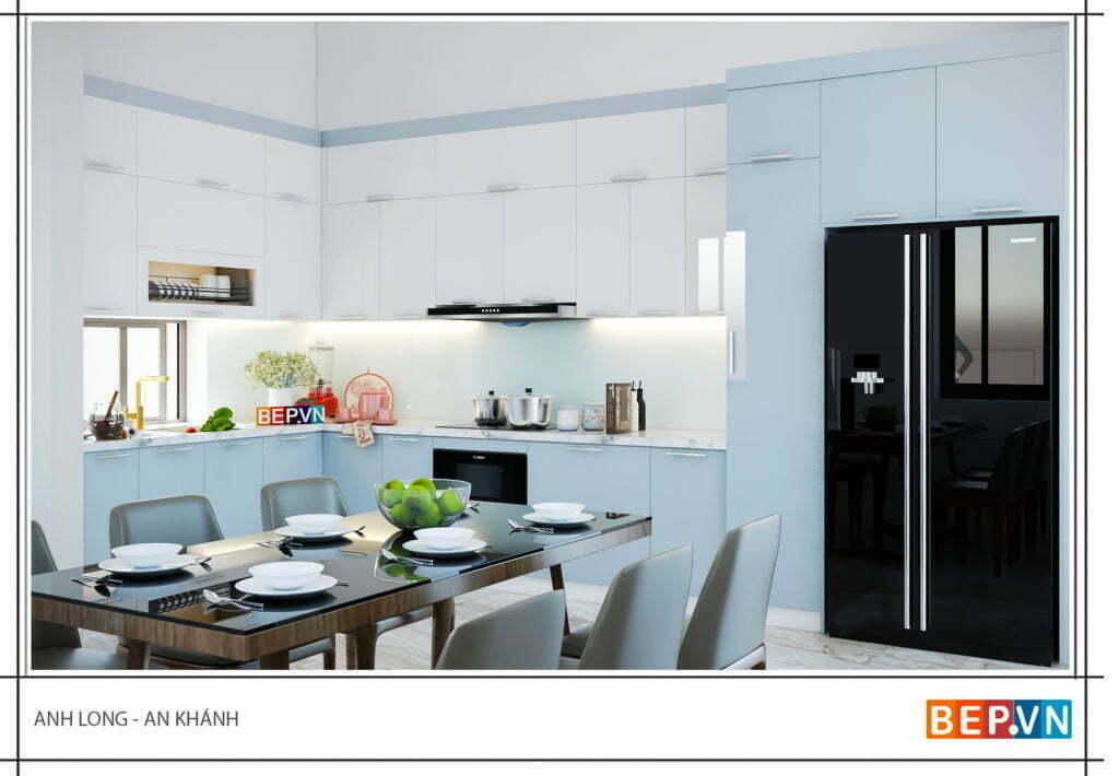 Lựa chọn màu sắc phù hợp với thiết kế tủ bếp đẹp, hiện đại