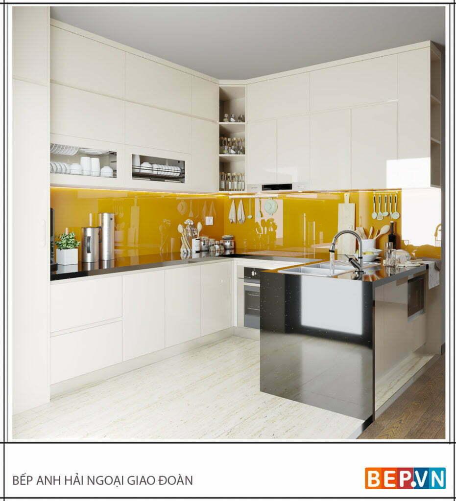 Lựa chọn thiết kế tủ bếp Acrylic là sự lựa chọn đúng đắn