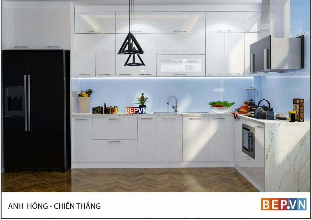 thiết kế tủ bếp hiện đại, sang trọng
