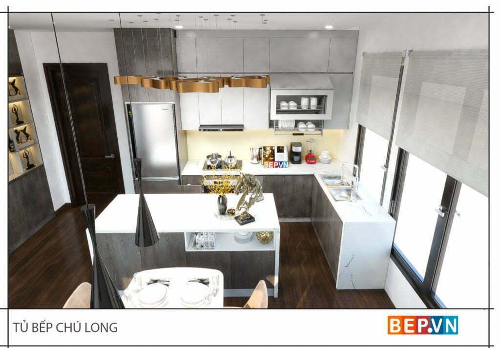 Lựa chọn màu sắc cho thiết kế tủ bếp gỗ công nghiệp