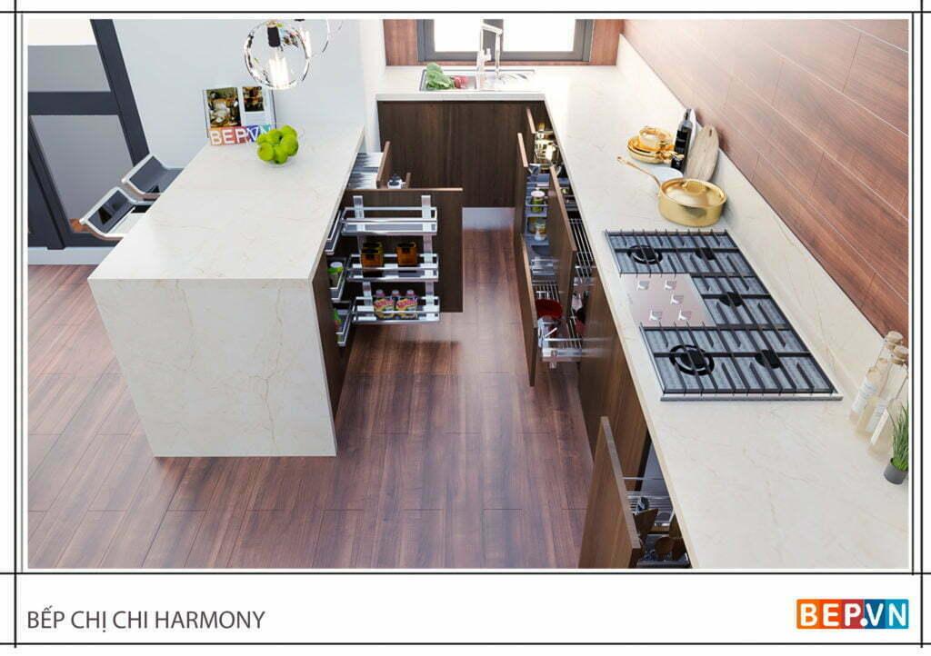 Lựa chọn phụ kiện tủ bếp thông minh, hiện đại