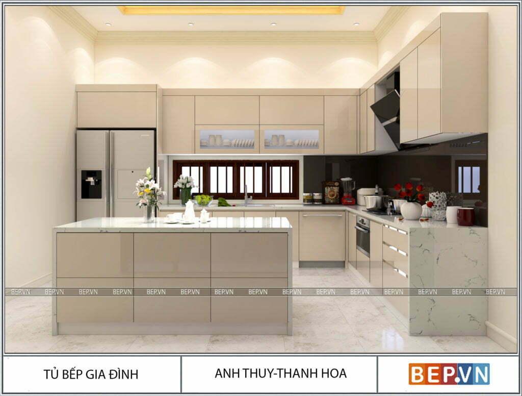 Xu hướng thiết kế nội thất tủ bếp hot nhất hiện nay