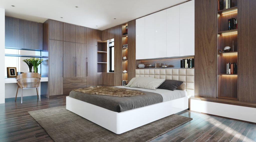 thiết kế nội thất phòng ngủ rộng