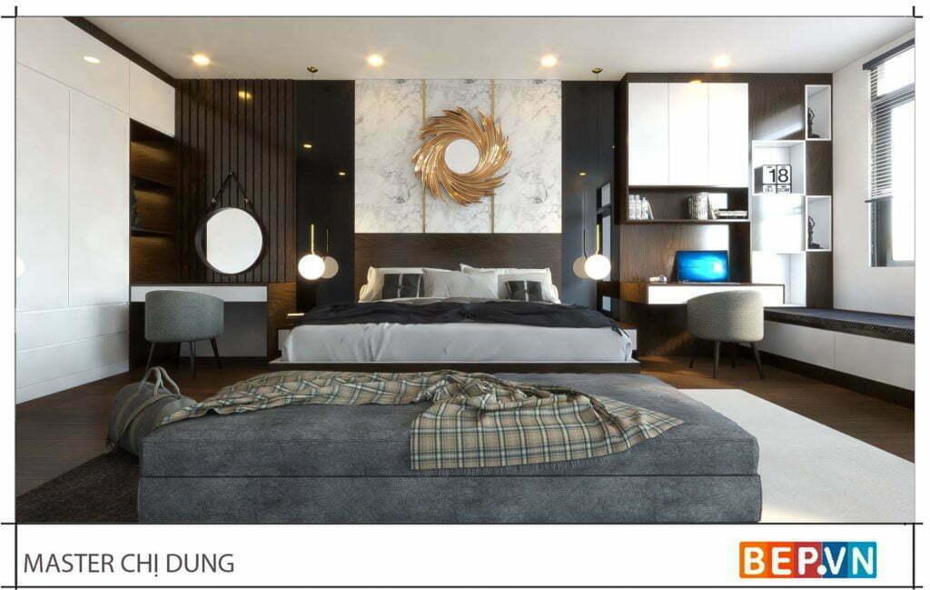 thiết kế nội thất phòng ngủ hiện đại ngày nay