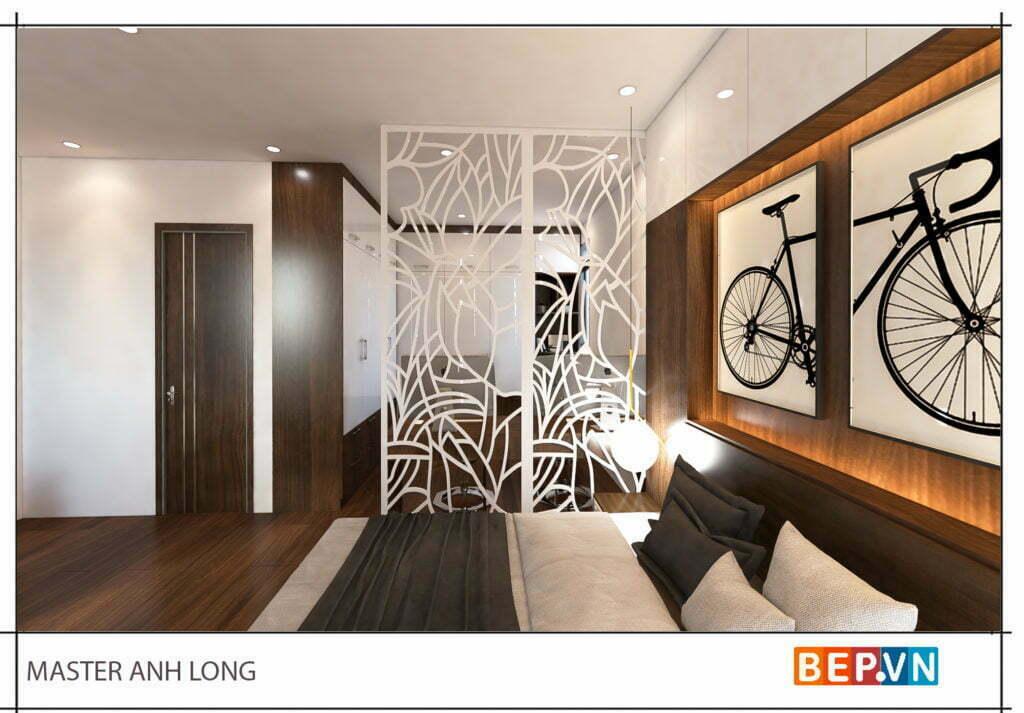 Thiết kế phòng ngủ master anh Long