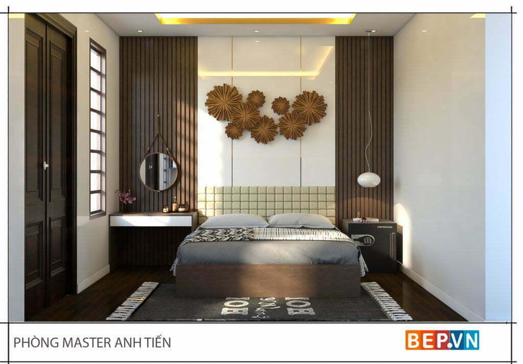 Thiết kế phòng ngủ master anh Tiến