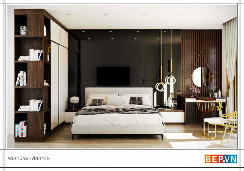 Thiết kế phòng ngủ master anh Tùng - Vĩnh Yên
