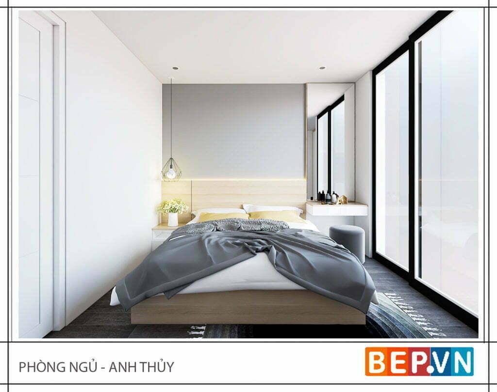 Thiết kế phòng ngủ đơn giản, hiện đại