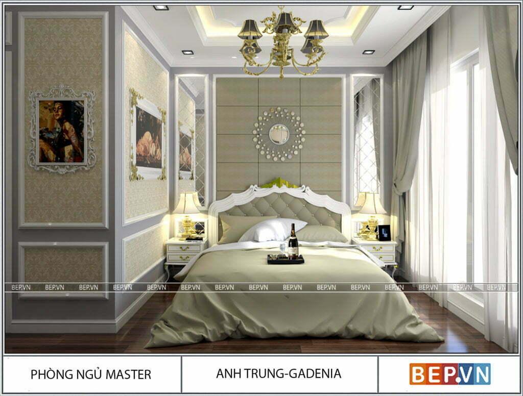 Thiết kế phòng ngủ theo phong cách tân cổ điển