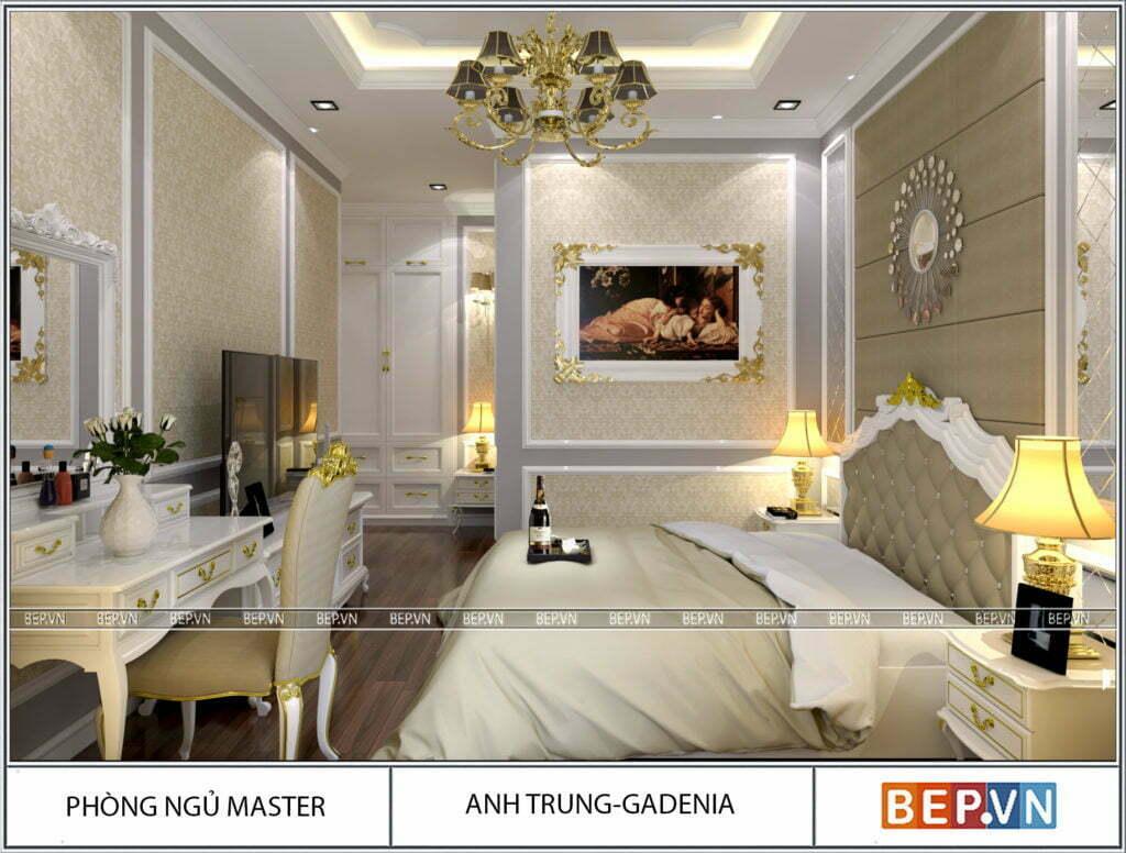 Phòng ngủ tân cổ điển sang trọng, hiện đại