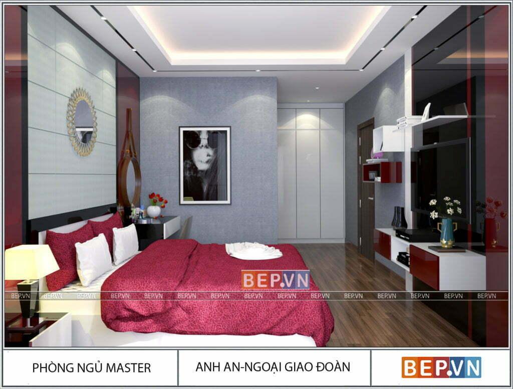 Sự kết hợp màu sắc hài hòa, tinh tế của căn phòng