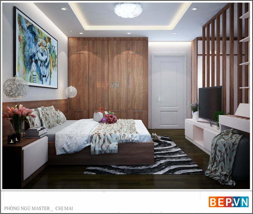 Hệ thống đèn chiếu sáng phòng ngủ hiện đại