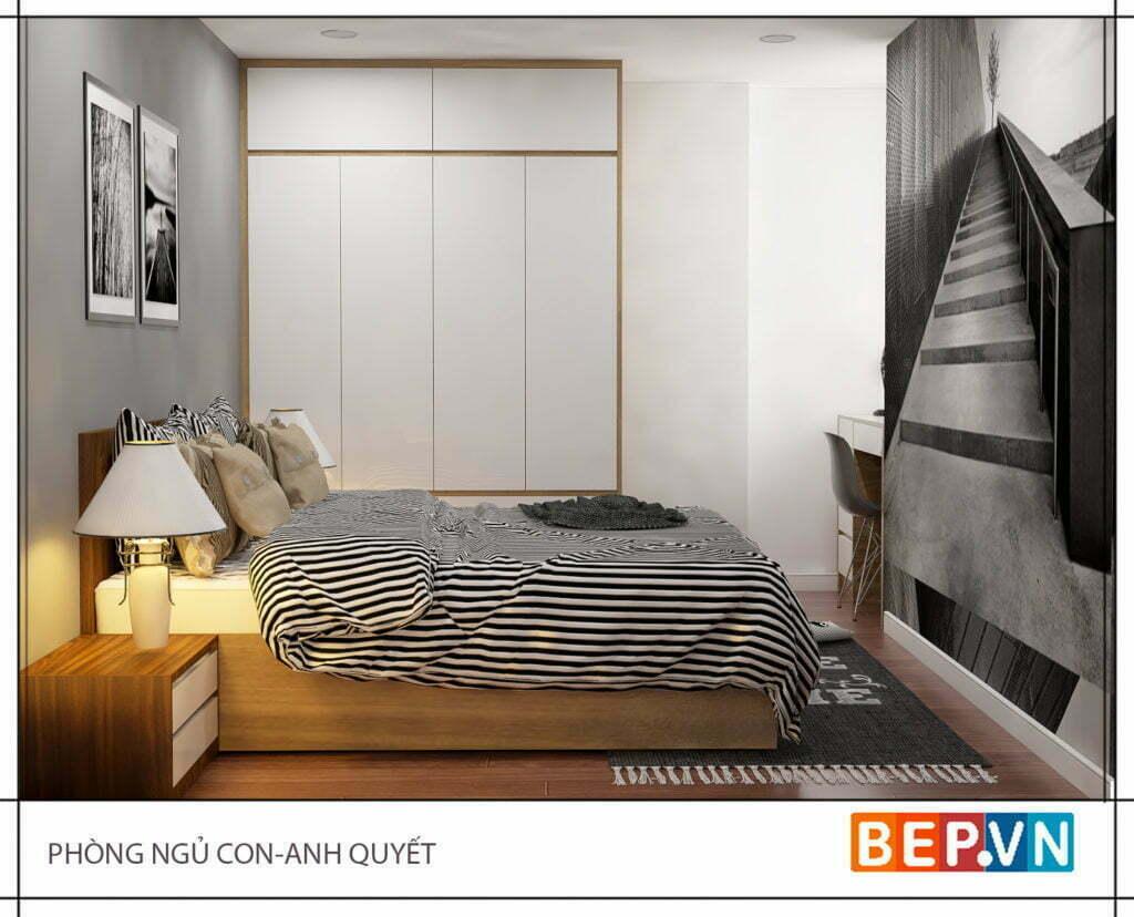 Thiết kế phòng ngủ con anh Quyết