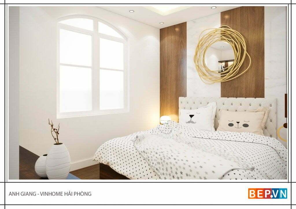 Ánh sáng làm điểm nhấn cho phòng ngủ