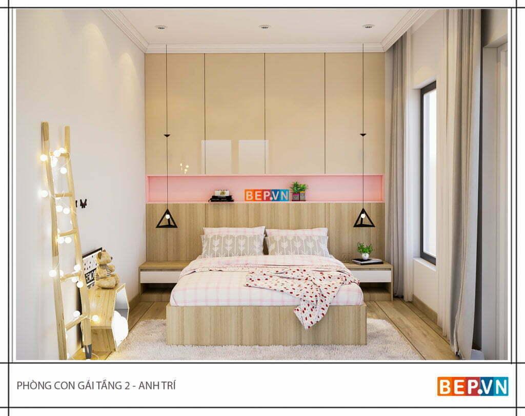 Phòng ngủ lựa chọn chất liệu gỗ công nghiệp chống ẩm, chống mối và an toàn cho sức khỏe