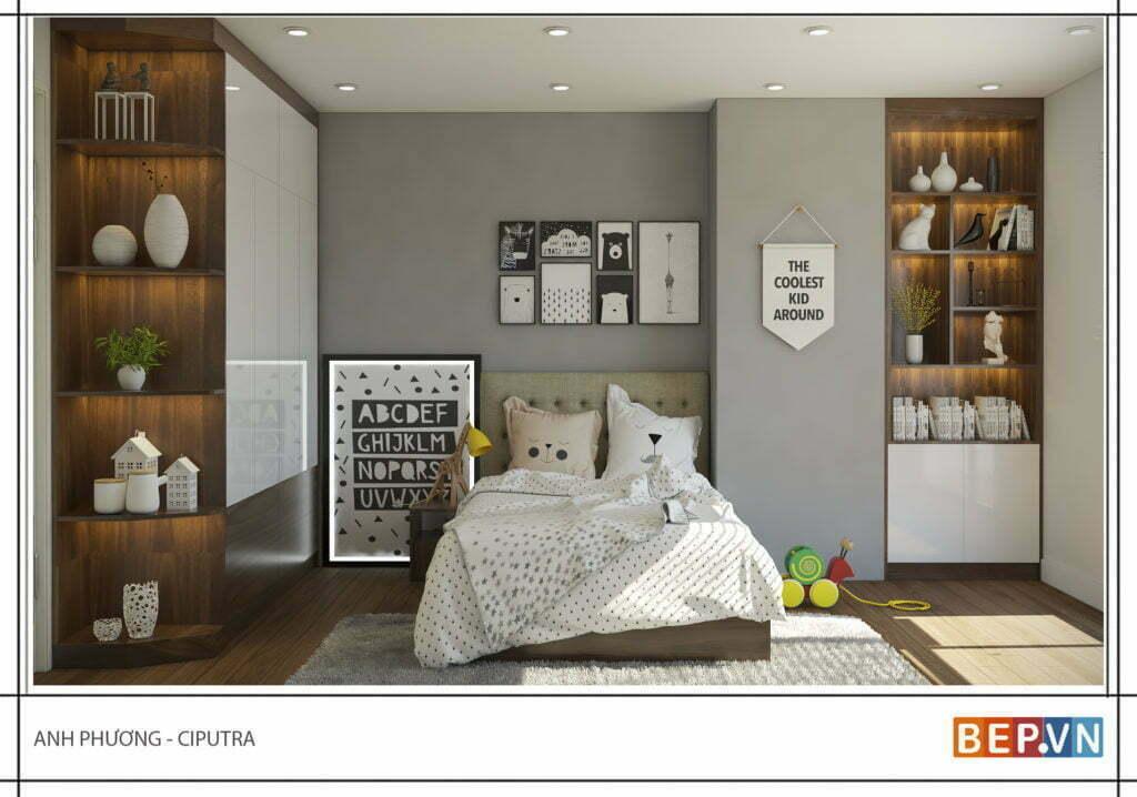 Thiết kế phòng ngủ hiện đại cho con