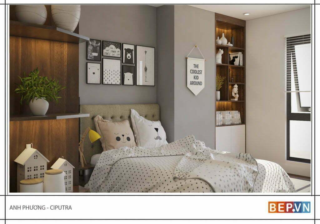Thêm các tủ trang trí cho phòng ngủ đẹp hiện đại