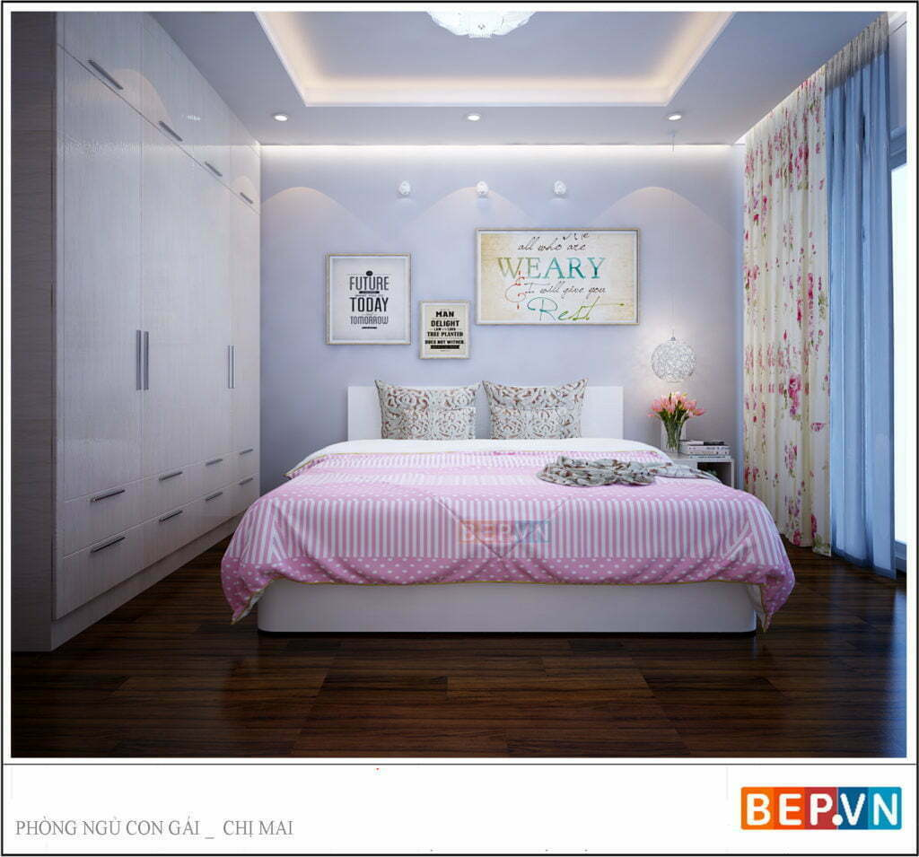 Mẫu phòng ngủ cho con gái 2