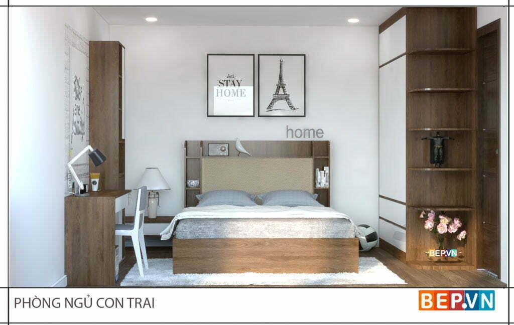 Thiết kế phòng ngủ cho con trai