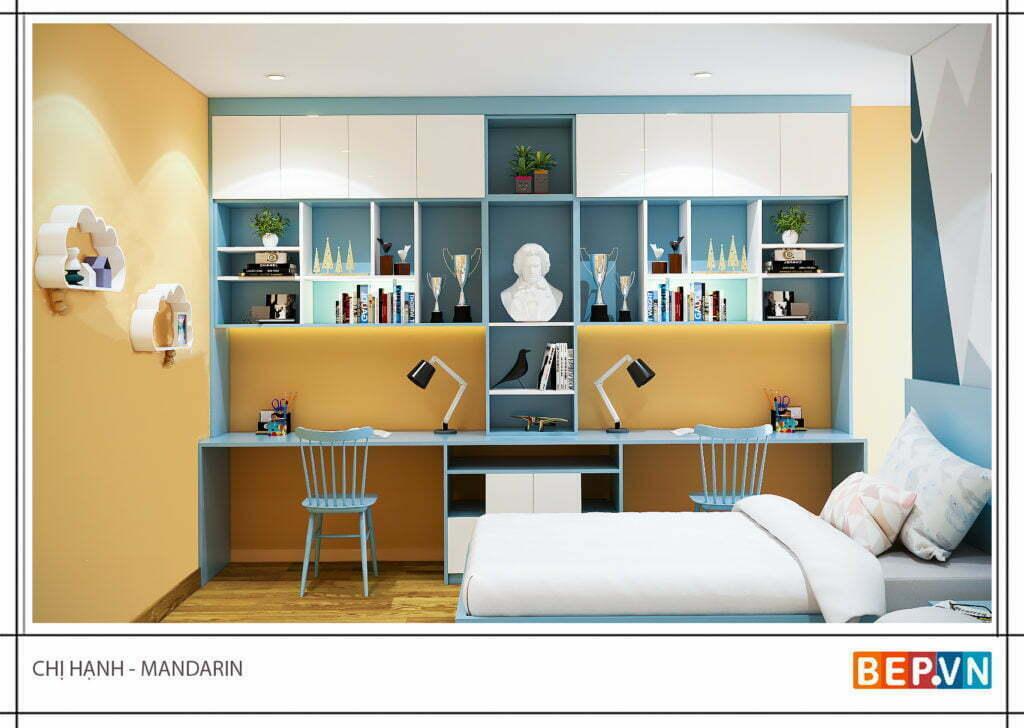 Mẫu thiết kế phòng ngủ hiện đại, độc đáo và sáng tạo cho con 1