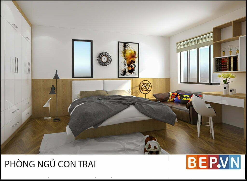 Mẫu thiết kế phòng ngủ hiện đại, độc đáo và sáng tạo cho con 5