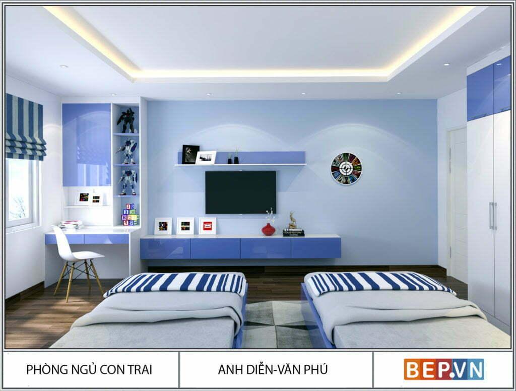 Mẫu thiết kế phòng ngủ hiện đại, độc đáo và sáng tạo cho con 6