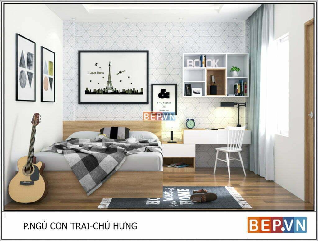Mẫu thiết kế phòng ngủ hiện đại, độc đáo và sáng tạo cho con 9