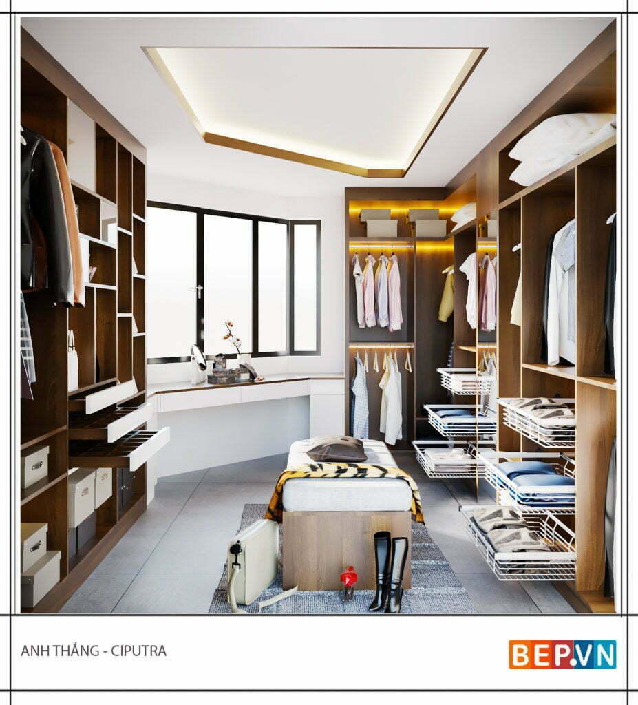 thiết kế tủ quần áo đẹp, sang trọng và hiện đại