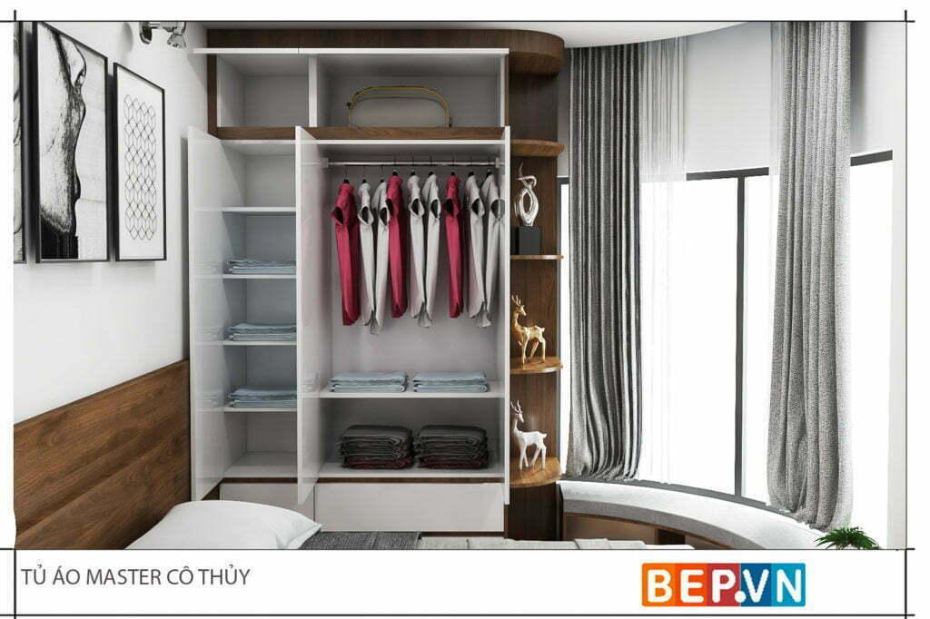 Chất liệu sử dụng cho thiết kế tủ quần áo đẹp