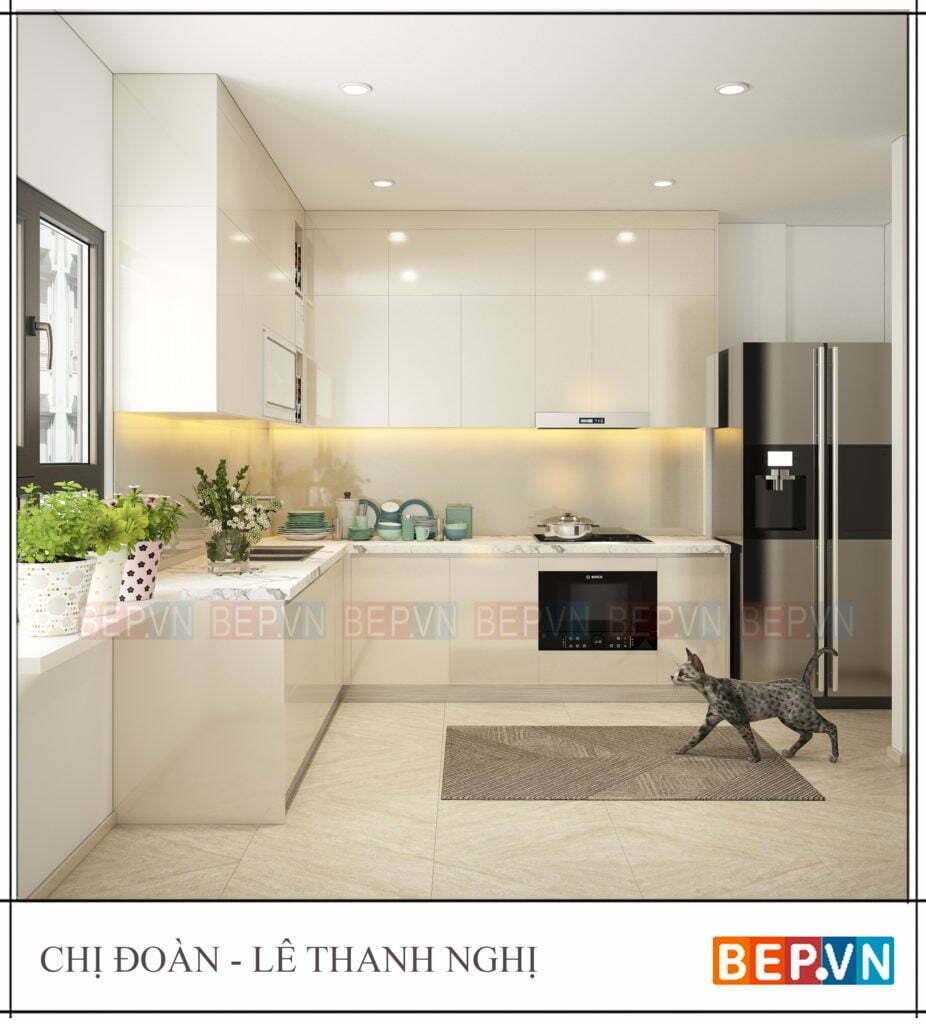 top 5 mẫu thiết kế tủ bếp acrylic hiện đại, sang trọng